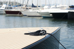 Anchored yachts in St. Tropez Royalty Free Stock Images