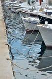 Anchoring boats Royalty Free Stock Photos