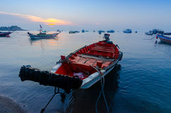 Anchoring boats in Thailand Royalty Free Stock Photography