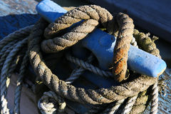 Anchoring Rope for Boat. Anchoring Rope for Fishing Boat on the Oregon Coast Stock Photos