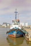 Anchoring ship Stock Photo