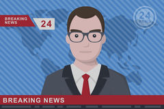 Anchorman flat  illustration Royalty Free Stock Photos