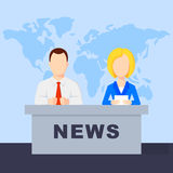 Anchorman flat  illustration Royalty Free Stock Images