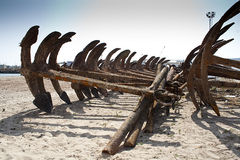 Anchors at Barbate Harbor. Great amount of Anchors at Barbate harbor Royalty Free Stock Photos
