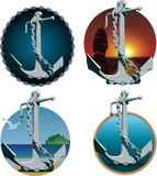 Anchors with chains Royalty Free Stock Image