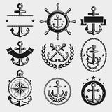 Anchors label and element set. Vector Royalty Free Stock Photos