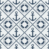 Anchors lifebuoy seamless pattern Royalty Free Stock Photos