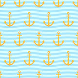 Anchors pattern Royalty Free Stock Images