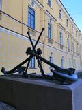 Anchors on the pedestal stock photography