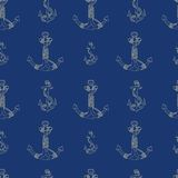 Anchors Seamless Pattern Stock Photos