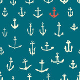 Anchors seamless pattern Royalty Free Stock Photos