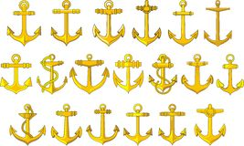 Anchors set Royalty Free Stock Photo