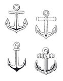 Anchors set Stock Photography