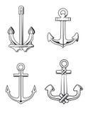Anchors set Stock Photos