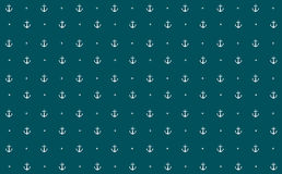 Anchors Wallpaper Vector. A wallpaper of nautical theme. Anchor and stars as elements of sea Royalty Free Stock Photos