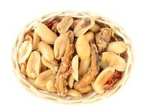 Anchova misturada dos amendoins Fotografia de Stock Royalty Free