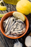 Anchovies Royalty Free Stock Photos