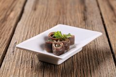 Anchovies with capers Royalty Free Stock Image