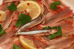 Anchovies starter Stock Photos