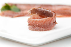 Anchovy appetizer Stock Photography