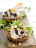 Anchovy canapes Stock Photo