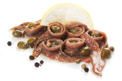 Anchovy and caper Stock Photography