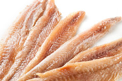 Anchovy. fillet on white background Royalty Free Stock Image