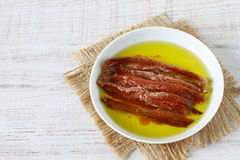 Anchovy fillets Royalty Free Stock Photos