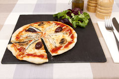 A anchovy pizza Royalty Free Stock Photography