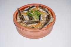 Anchovy rice, Hamsi Pilav, Hamsi Güveç Stock Images