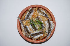 Anchovy rice, Hamsi Pilav, Hamsi Güveç Royalty Free Stock Image