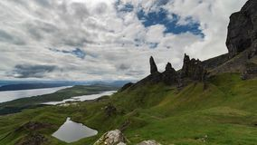 Ancião cênico de Storr na ilha de Skye Time Lapse video estoque