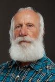 Ancião com uma barba longa com sorriso grande Foto de Stock Royalty Free
