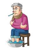 Ancião da febre ilustração royalty free