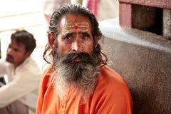 Ancião do filósofo com um sinal em sua testa Fotografia de Stock