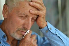 Ancião doente em casa Fotografia de Stock