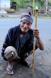 Ancião em Moni Flores Indonesia Fotos de Stock