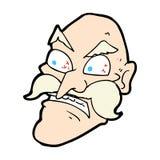 ancião irritado dos desenhos animados cômicos Fotos de Stock