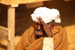 Ancião na Índia do deserto Foto de Stock