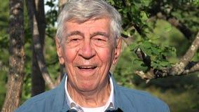 Ancião ou sênior idoso de sorriso feliz fotos de stock royalty free