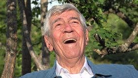 Ancião ou sênior idoso de sorriso feliz fotos de stock