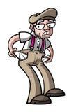 Ancião pobre ilustração royalty free