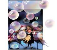 Ancião que faz bolhas Fotografia de Stock Royalty Free