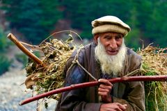 Ancião trabalhador Imagem de Stock Royalty Free