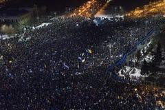 Anci korupcja protesty w Bucharest Obraz Stock
