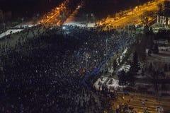 Anci korupcja protesty w Bucharest Zdjęcie Stock