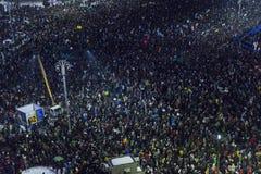 Anci korupcja protesty w Bucharest Obraz Royalty Free