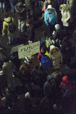 Anci korupcja protesty w Bucharest Fotografia Stock