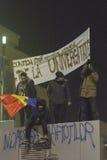 Anci korupcja protesty w Bucharest Zdjęcia Royalty Free