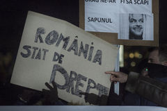 Anci korupcja protesty w Bucharest Obrazy Royalty Free